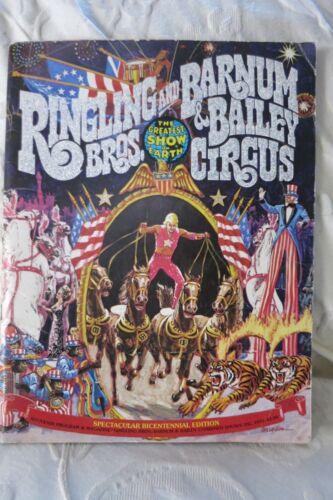 Ringling Bros Barnum Bailey Circus Souvenir Program 1975 BiCentennial Edition