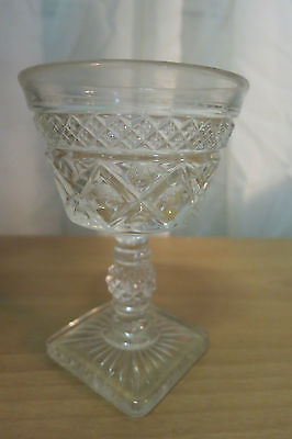 IMPERIAL GLASS OHIO CAPE COD CLEAR WINE CORDIAL FOOTED SQUARE BASE GOBLET