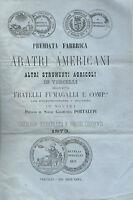 Catalogo Aratri Americani Vercelli Fumagalli 1873 - Viaggiato Novara Portalupi -  - ebay.it