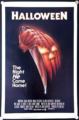Halloween 1978 Original Movie Poster Rolled Never Folded Black Ratings Box C8-C9](Halloween Movies Ratings)