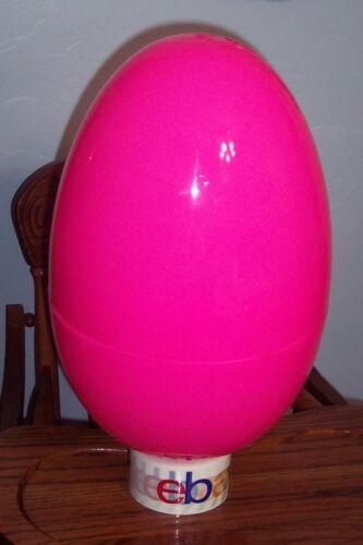 "NEW Jumbo Mega 16"" HOT PINK Plastic Prize Easter Egg NWOT"