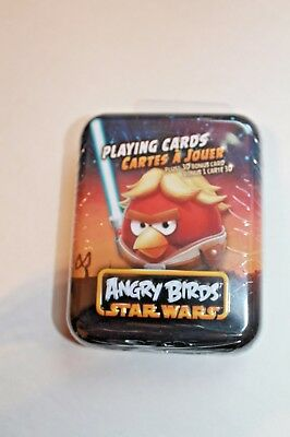 Angry Birds Star Wars Luke Skywalker Playing Cards Metal Tin 3D Bonus Card  NEW