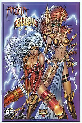 ANGELA/GLORY: RAGE OF ANGELS #1 March 1996 NM+ 9.6 W LIEFELD VARIANT 1st Team-Up