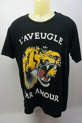 Gucci L'Aveugle par Amour Homme Black Tiger Chemise Taille S