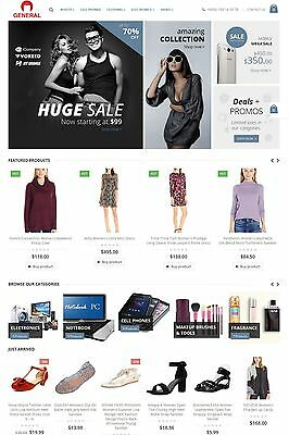 Amazon  Ebay  Aliexpress   Evento Market Affiliate Website For Sale   All In One