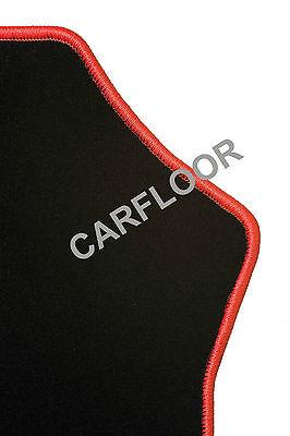 Für Mercedes SL R230 Bj. 10.01-02.12  Fußmatten Velours schwarz mit Rand rot