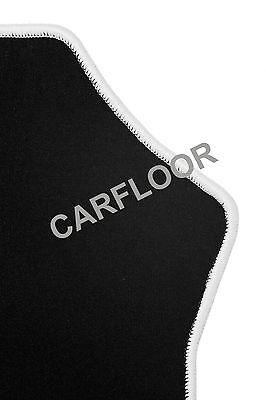 Für Mercedes SL R230 Bj. 10.01-02.12  Fußmatten Velours schwarz mit Rand weiß
