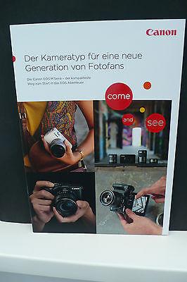 2016 CANON EOS M10 M3 M  KAMERA PROSPEKT PHOTOAPPARAT KATALOG CAMERA BROCHURE