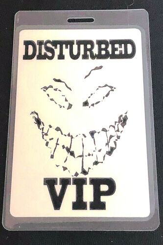 DISTURBED Laminated VIP Backstage Pass 2000-2001 Tour Perri