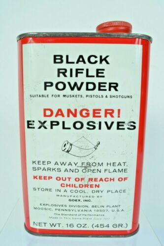 Vintage Goex Superfine Black Rifle Powder Tin EMPTY