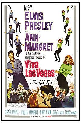 1960's Rock & Roll : Elvis Presley in * Viva Las Vegas * Movie Poster 1964