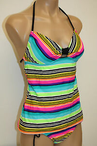 NWT-Hobie-Swimsuit-Bikini-2ps-set-adj-hipster-pant-and-Tankini-top