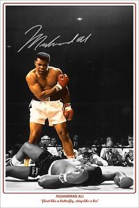 * MUHAMMAD ALI * Large signed poster of boxing legend, looks great on any wall!!