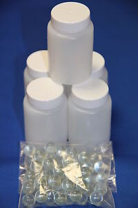 Plastic Paint Mixing 60ml Bottles set of 200 inc Marbles - Smart Repair