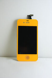 Color Glass LCD Touch Screen Digitizer Lens Replacement Assembly for iPhone 4 4G