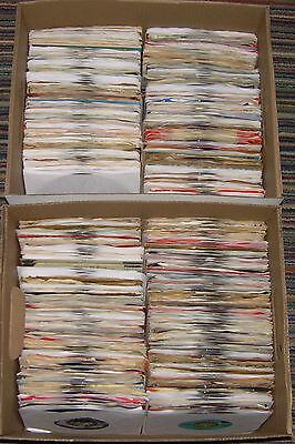WHOLESALE BOX LOT OF 500 JUKEBOX 45RPM RECORDS