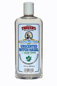 THAYERS-Witch-Hazel-UNSCENTED-12-oz-ALCOHOL-FREE-TONER-Aloe-Vera-moisturizes