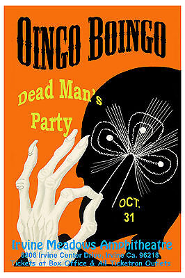 Oingo Boingo at Irvine Meadows Concert Poster 1986