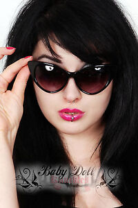 Cat-eye-sunglasses-NEW-black-rockabilly-50s