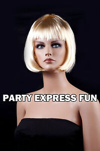 SHORT BOB LADIES FANCY DRESS PARTY WIG **8 COLOURS AVAILABLE**