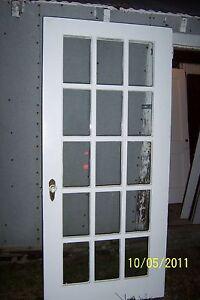 exterior 15 pane glass door 36 x 79 ebay