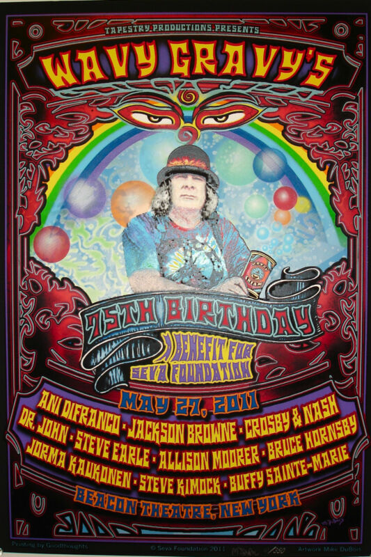 Wavy Gravy 75th Birthday Poster Special! Numbered! SIGNED! 100% DONATION to SEVA