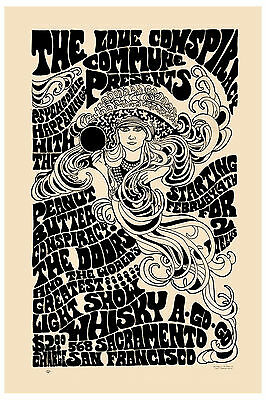 Jim Morrison & The Doors San Francisco Concert Poster 1967 Large Format 24x36
