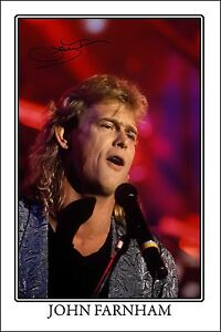* JOHN FARNHAM * HUGE AUTOGRAPH SIGNED PHOTO * PERFECT GIFT!!! WHISPERING JACK!!