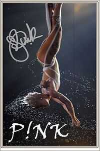 PINK - ALECIA MOORE - LARGE SIGNED POSTER SIZE PHOTO