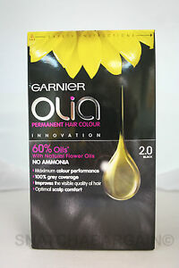 GARNIER OLIA PERMANENT HAIR COLOUR NO AMMONIA FLOWER OILS BLACK,VIIOLET,BLONDE