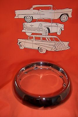 1955 56 57 Chevy Dome Bezel Chrome Sedan Wagon Hardtop