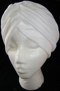 NEW-HEAD-WRAP-INDIAN-STYLE-TURBAN-HAT-WHITE