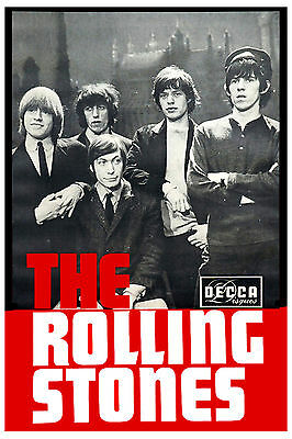 Brit Rock: The Rolling Stones Decca Group Photo Promotional Poster 1965 13x19