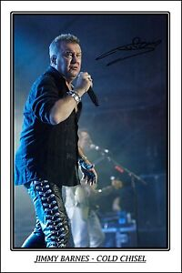 * JIMMY BARNES - COLD CHISEL * HUGE AUTOGRAPH SIGNED POSTER * PERFECT GIFT!!!