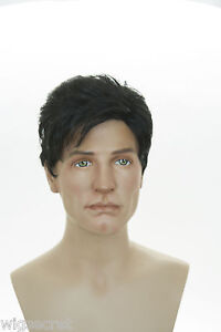 Ash-Black-Brunette-Short-Wavy-Straight-Men-Wig