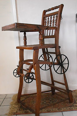 Antique Stroller That Converts To A Baby High Chair