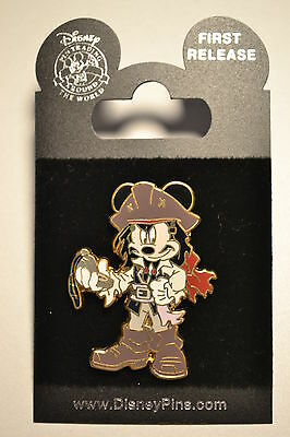 Disney Pirates Of The Caribbean Costume Mickey Mouse As Jack Sparrow Pin