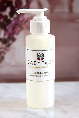 Babyface Antioxidant Gel Toner Green Tea Berries Licorice Aloe Sun Damage Aging