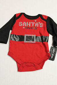 Baby-Glam-Infant-Boy-or-Girl-3-Months-Santas-Favorite-Christmas-Outfit-NEW