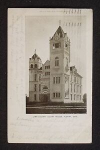 1909 Linn County Court House Albany OR Linn Co Postcard Oregon