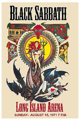 Heavy Metal: Ozzy & Black Sabbath at Long Island Arena Concert Poster 1971
