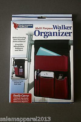 NORTH AMERICAN HEALTHCARE MULTI PURPOSE WALKER ORGANIZER WHEELCHAIRS STROLLERS
