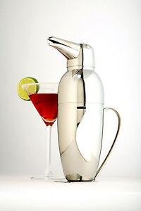 Norpro-18-10-Stainless-Steel-Penguin-Cocktail-Shaker-Martini-Mixer-Bartender-NEW