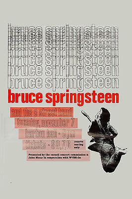 The BOSS: Bruce Springsteen at Cornell University Concert Poster Circa 1978