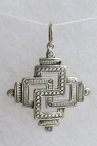 Svarga-Old-Hutsul-Cross-Pendant-Oxidized-Sterling-Silver