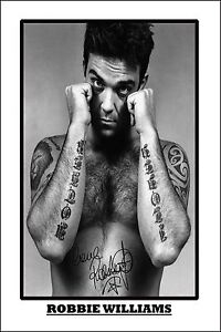* ROBBIE WILLIAMS * Large signed poster of music star! Great gift or memorabilia