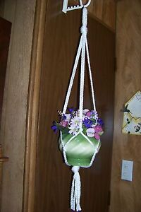 Macrame Basic Plant Hangers   6mm 4arms  CHOOSE A COLOR (HL) Handmade