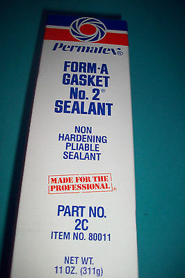 11OZ TUBE,80011 PERMATEX, FORM A GASKET #2 NON HARDENING PLIABLE GASKET SEALLANT