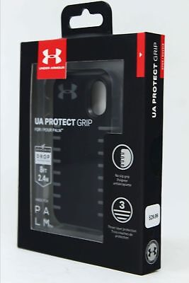 NEW Under Armour UA Protect Grip Case Cover for Verizon Palm - Gray Black (2018) (Palm Protective Case)