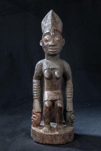 Yoruba Female Status Figure, South Western Nigeria, African Tribal Art.
